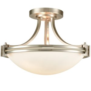 Brushed Nickel Ceiling Light Glass Ceiling Lighting Fixture