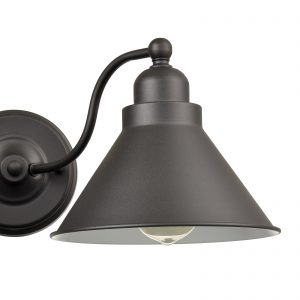 Farmhouse 2-Light Vanity Light Matte Black Industrial Wall Sconce