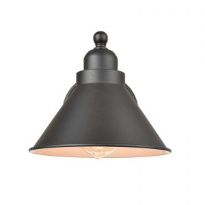 Industrial Matte Black Simplicity 1 Light Metal Wall Sconce