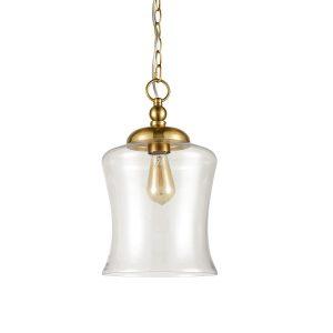 Modern Brass Pendant Lights Industrial Clear Glass Pendant Lighting