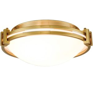 Modern Flush Mount Ceiling Light 12 Inches Brass Ceiling Lighting