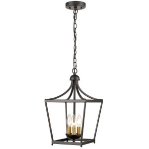 Farmhouse Chandelier Lantern Pendant Light Fixture 3-Light Rustic