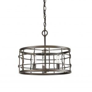 Industrial Metal Drum Pendant Chandelier Light Dining Room Hanging Light