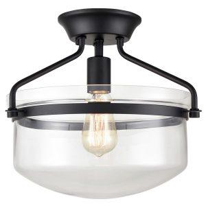Modern Kitchen Ceiling Lights Fixture Semi Flush, Black