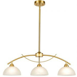 Modern 3-Light Kitchen Pendant Lighting,Brass Finish