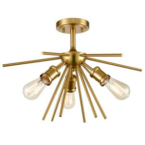 Mid Century Modern Ceiling Light Brass Sputnik Chandeliers