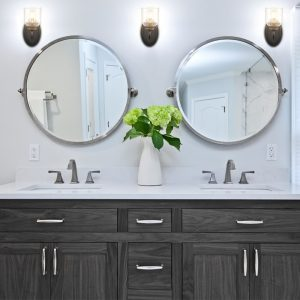 Modern Black Wall Sconcs 2-Pack Bathroom Vanity Wall Light Fixture