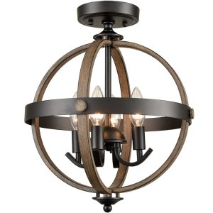 Sphere Ceiling Light 4-Light Farmhouse Flush Lighting Fixtures
