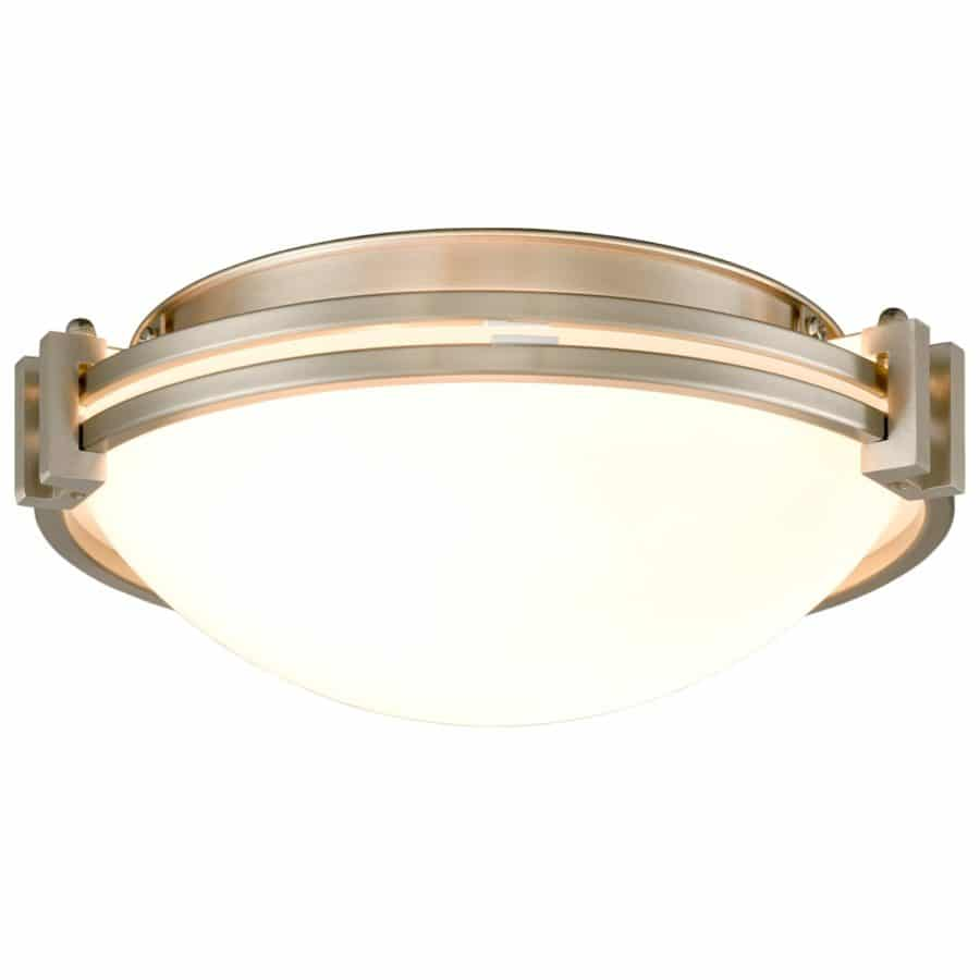 12 Inches Flush Mount Ceiling Light Fixture Satin Nickel Finish
