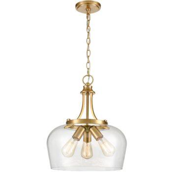 3-Light Modern Ceiling Pendant Light Clear Glass Pendant Lighting
