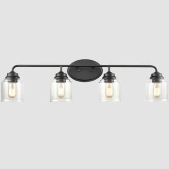 4-Light Wall Sconce Black Wall Light Fixture bathroom lighting fixtures