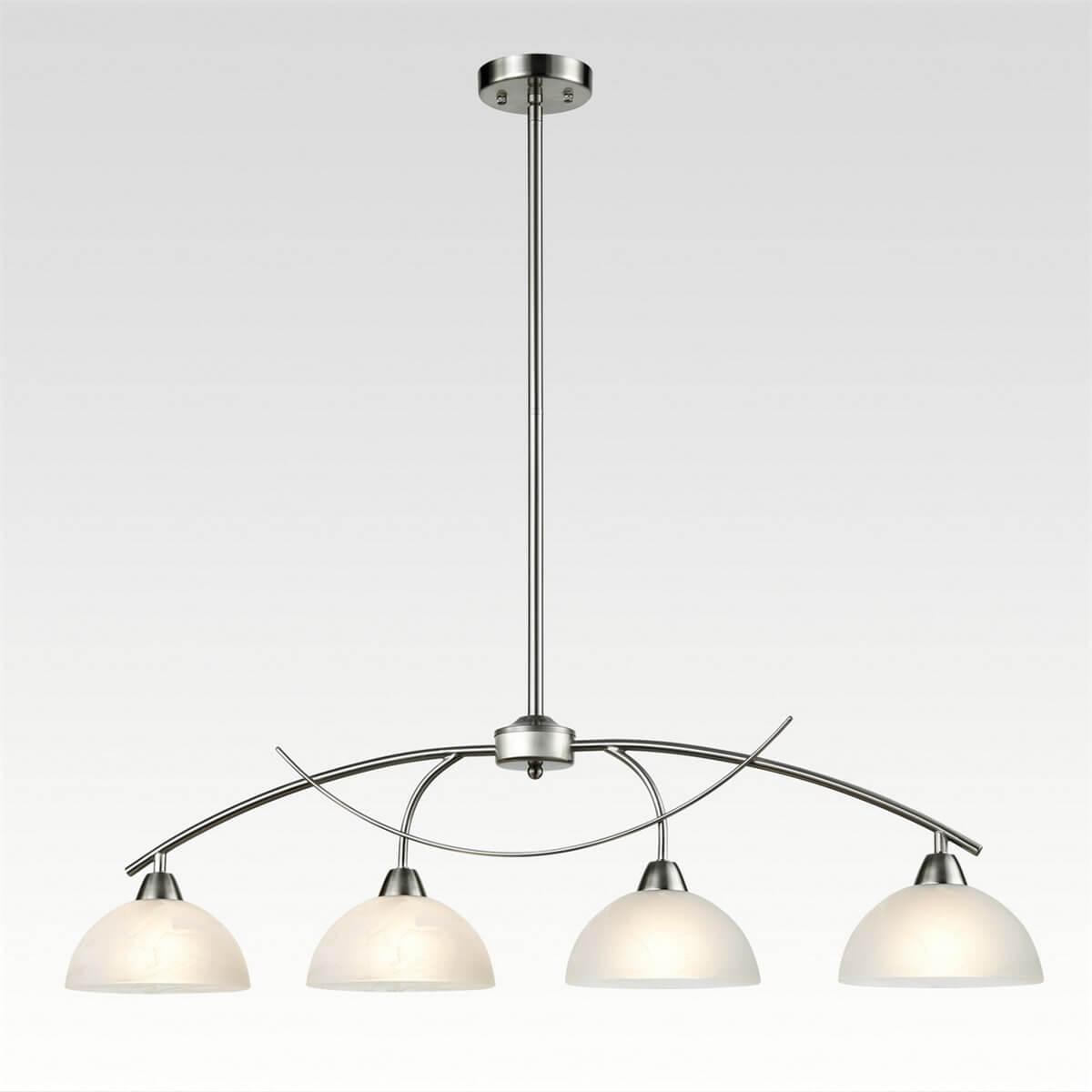 Modern 4-Light Kitchen Pendant Lighting, Brushed Nickel