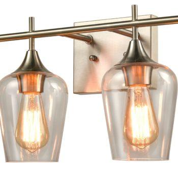 Industrial Bathroom Vanity Wall Light 4-Light Sconces Brushed Nickel