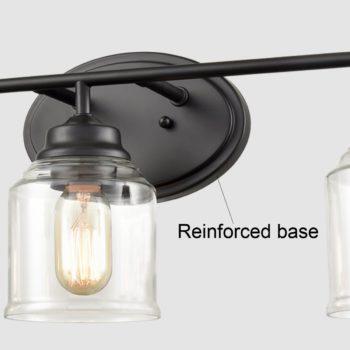 Glass Wall Sconce 3-Light Wall Lighting vanity lighting fixtures