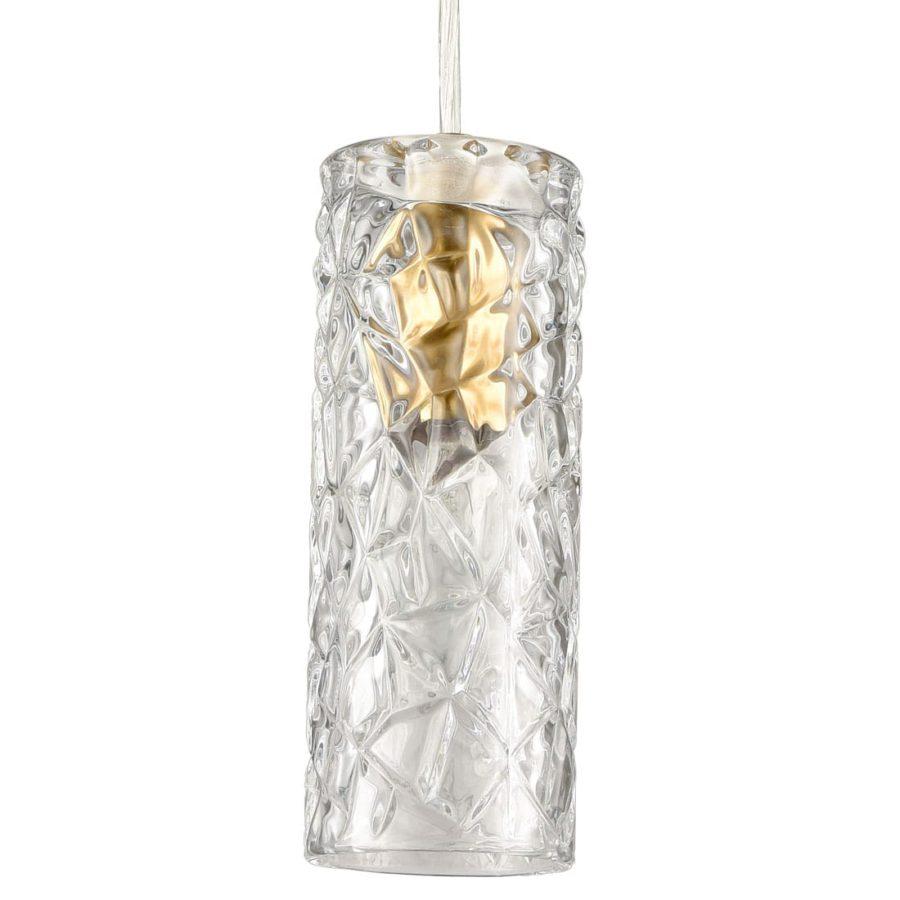 Modern Mini Island Pendant Lighting Brass Cylinder Hanging Fixture
