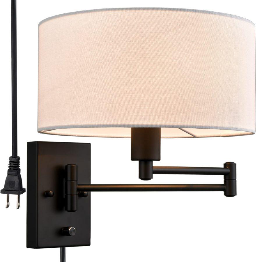 Beige Wall Sconces Plug-in Wall Lamp Swing Arm Wall Lights