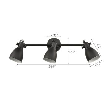 Black Wall Mounted Ceiling Tracking Lighting Industrial Style