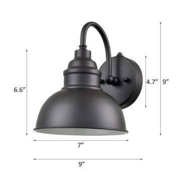 Black Dusk to Dawn Outdoor Wall Sconce Set of 2