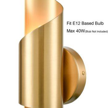 Brass Wall Sconces Sets of 2 Streamline Wall Light Lighting Fixture
