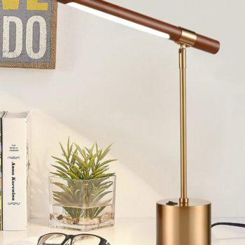 Modern LED Desk Lamp for Study Desk Antique Brass Light