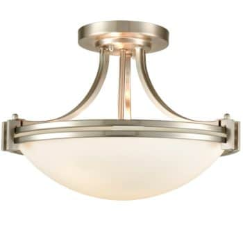 Brushed Nickel Ceiling Light Glass Ceiling Lighting Fixture