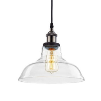 Industrial Antique Bronze Pendant Light 3 Pack Glass Light