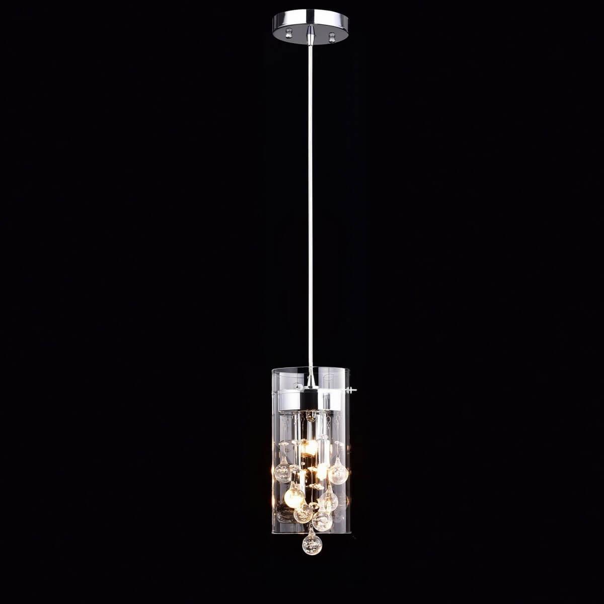 Modern Crystal Pendant Light mini Glass Cylinder Fixture
