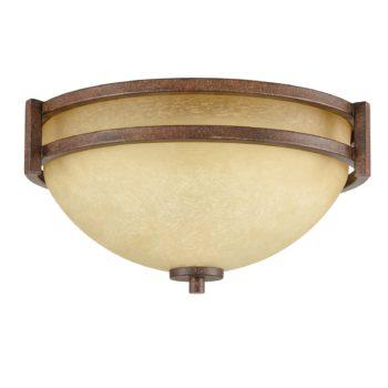 Famrhouse Flush Mount Ceiling Light 3-Light Scavo Glass Ceiling Fixture