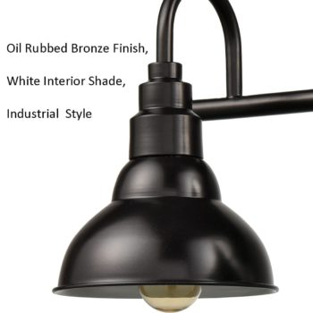 Farmhouse Bath Vanity Wall Light 3-Light Barn Sconce Oil Rubbed Bronze