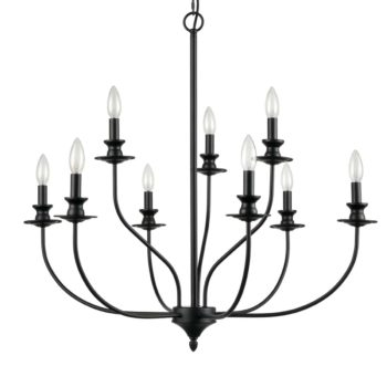 Farmhouse Chandelier Black Candle Chandelier for Dining