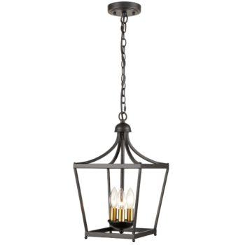 Farmhouse Chandelier Lantern Pendant Light Fixture 3-Light Rustic