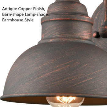 Farmhouse Indoor/Outdoor Wall Sconce Metal Barn Light
