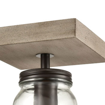 Farmhouse Mason Jar Glass Flush Mount Ceiling Lights