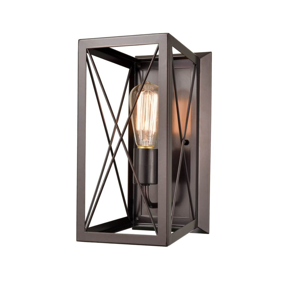 Farmhouse Metal Cage Wall Light Vintage Kitchen Wall Sconce