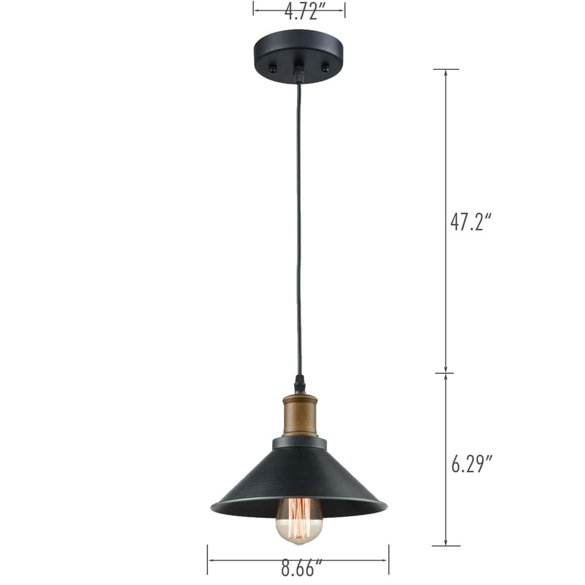 3 Lights Black Farmhouse Mini Pendant Light Fixture