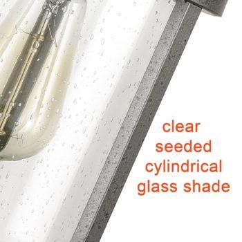 Farmhouse Pendant Chandelier Seeded Glass Ceiling Pendant Lights