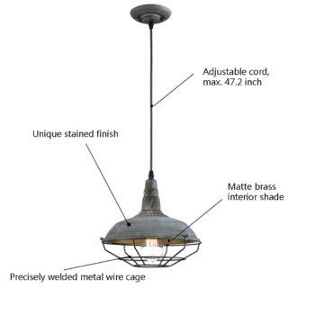 Vintage Industrial Lighting Fixtures Ceiling Pendant Light Distressed Blue