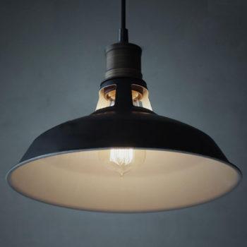 Industrial Black Barn Pendant Light-1 Light Loft Fixture