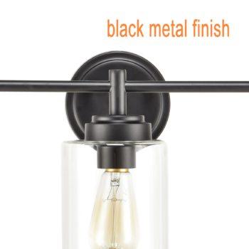 Industrial 3-Light Bathroom Vanity Light Black Wall Sconces