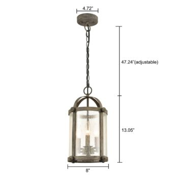 Cylinder Industrial Style Pendant Light Seeded Glass Kitchen Island Fixture