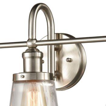 Industrial Bathroom Vanity Wall Light 3-Light Sconces Brushed Nickel
