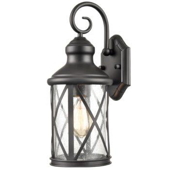 Lantern Wall Light Seeded Glass Shade Outdoor Light Fixture