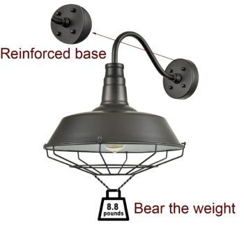 Farmhouse Wall Light Wall Sconces Black Light Outdoor Metal Cage