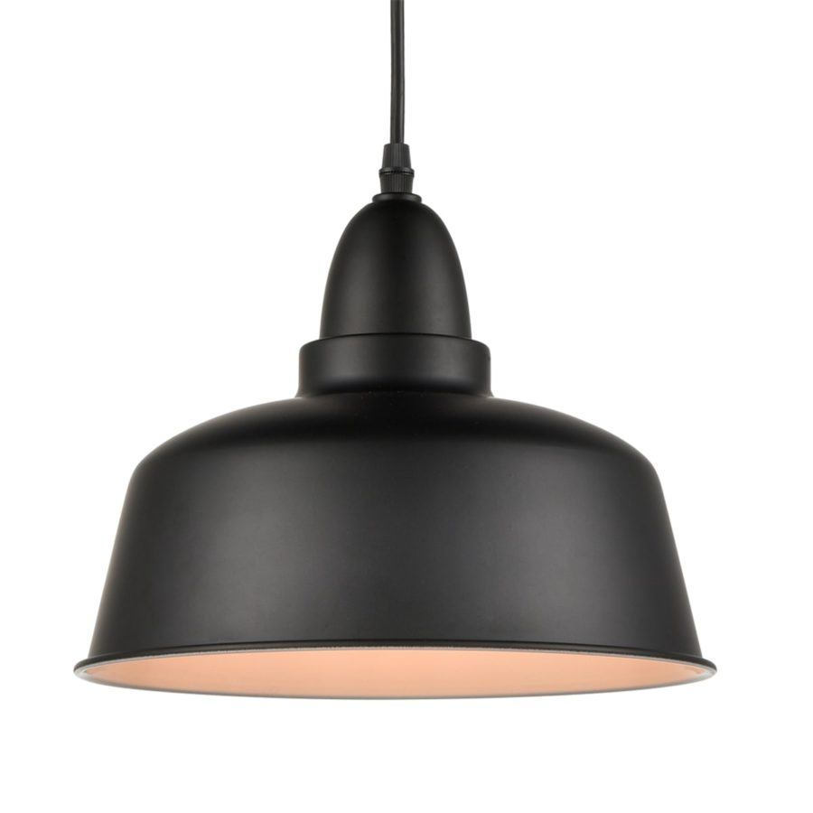 Matte Black Industrial Metal Pendant Lights Kitchen Island Lighting