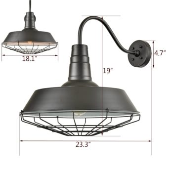 Metal Cage Wall Lamp Wall Sconces Farmhouse Black Wall Light Outdoor