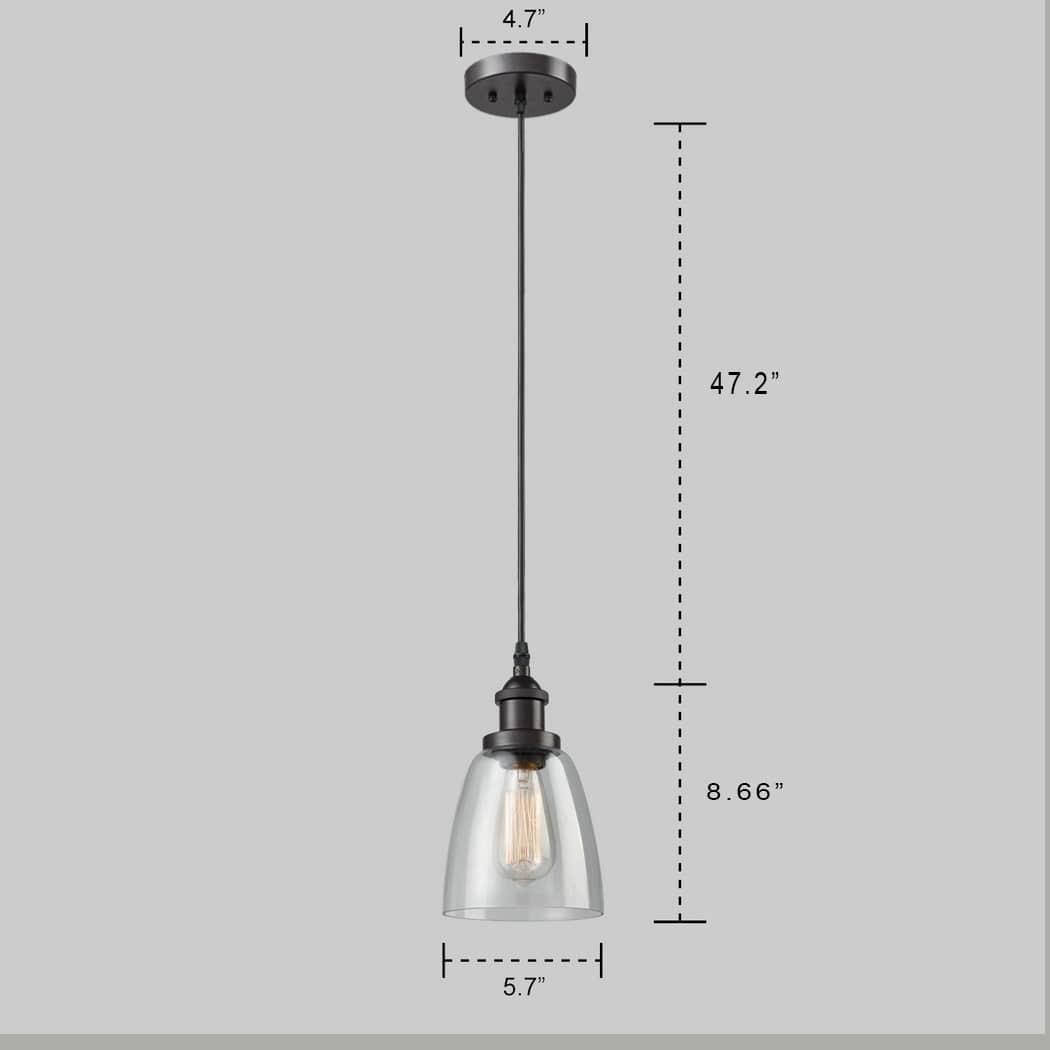 Industrial Bronze Pendant mini Bell Glass Kitchen Island Light