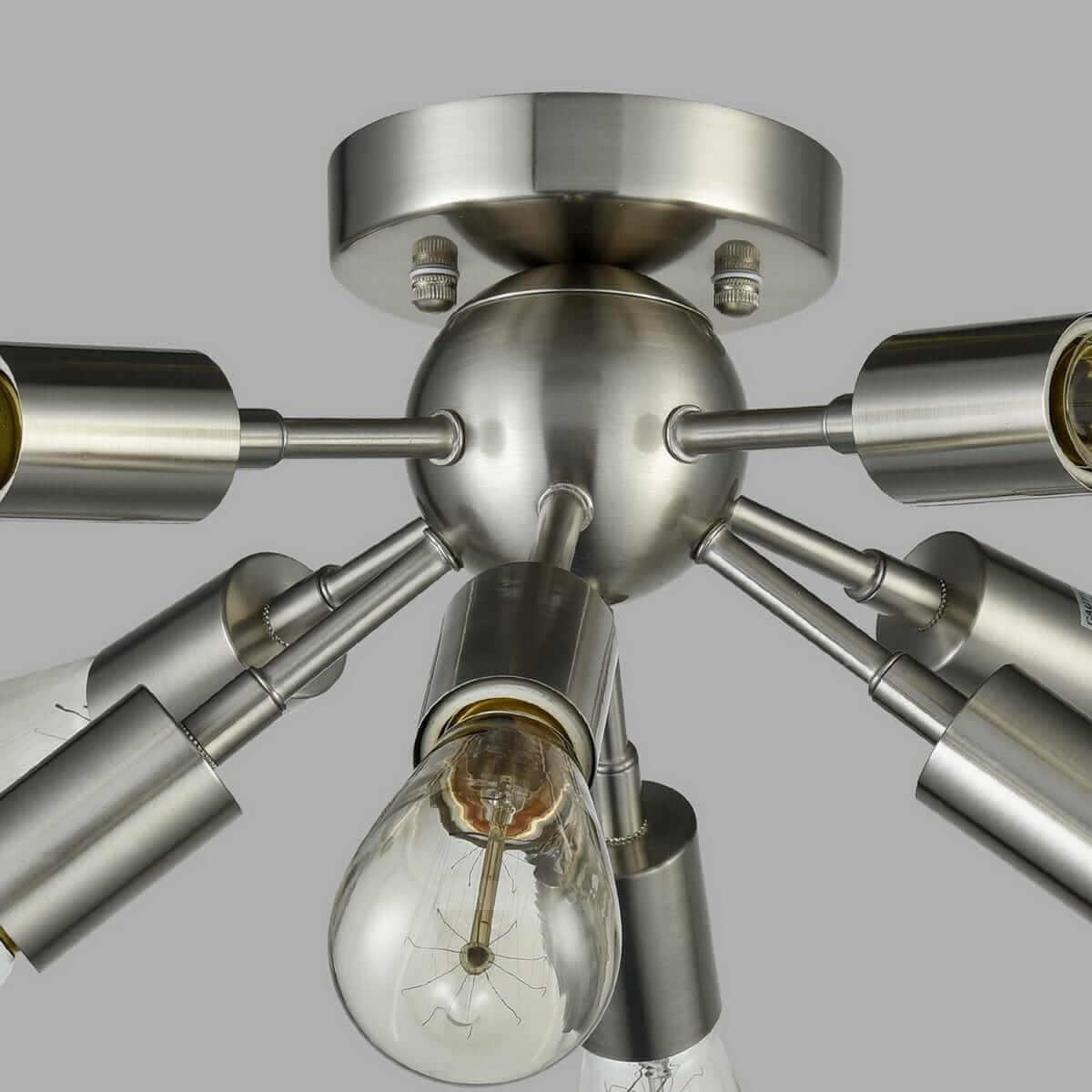 Modern Sputnik Ceiling Light 8-light Brushed Nickel Fixture
