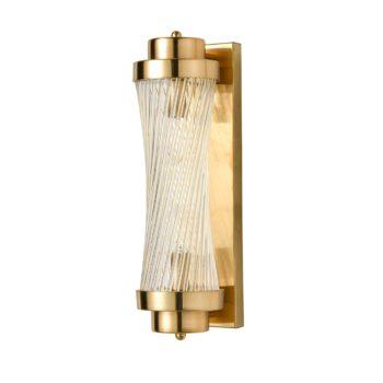 Modern Brass Wall Sconce 2-Light Bathroom Vanity Light