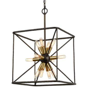 Modern Chandelier 12-Light Cube Pendant Light Kitchen Chandelier Light