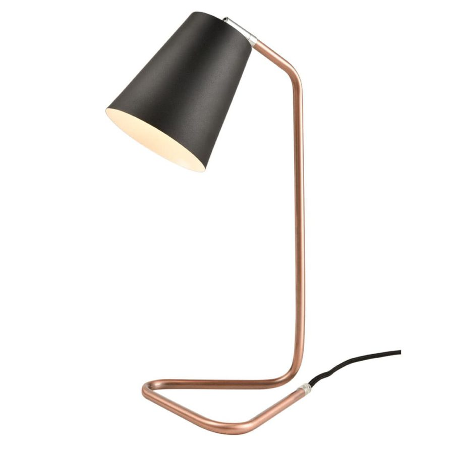 Modern Metal Table Lamp Red Copper Table Bedside Fixture